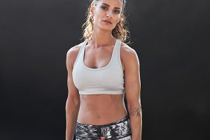 Strong and muscular female