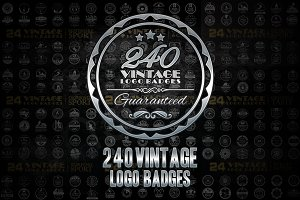 240 Vintage logo Badges