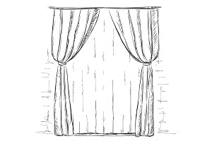 Hand Drawn Curtains