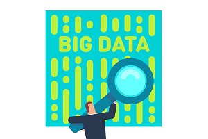 Big data concept vector illustration