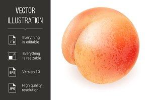 Appetizing ripe peach