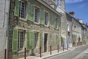 Street in Burgundy town
