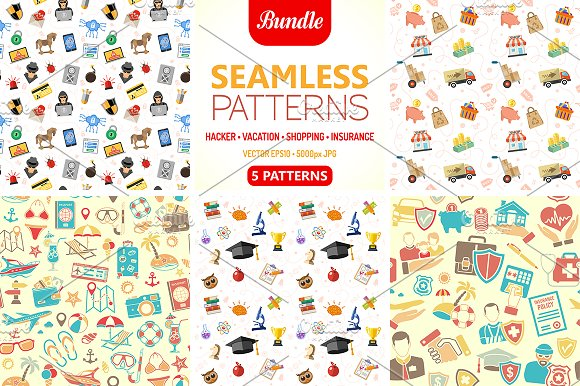 5 Seamless Patterns & Textures in Patterns