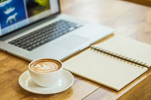 coffee on a table showing break