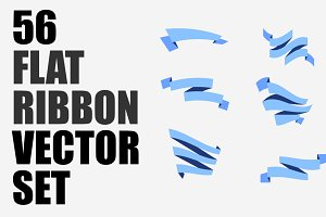 56 Ribbons Vector Set