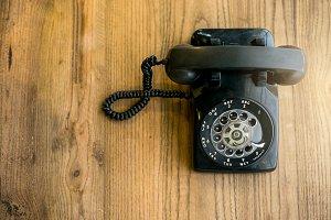 Old telephone,Retro