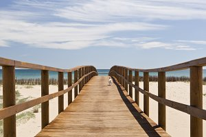 wooden walkway to the beach
