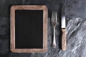 Fork Knife Menu Board