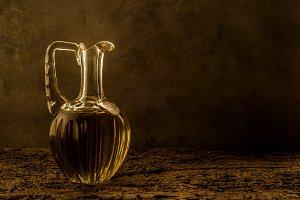 Extra olive oil vintage jar