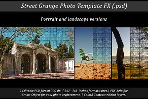 Street Grunge Photo Template FX