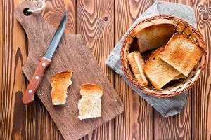 basket of toast