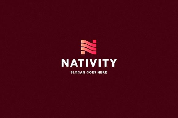 nativity letter n logo template logo templates creative market