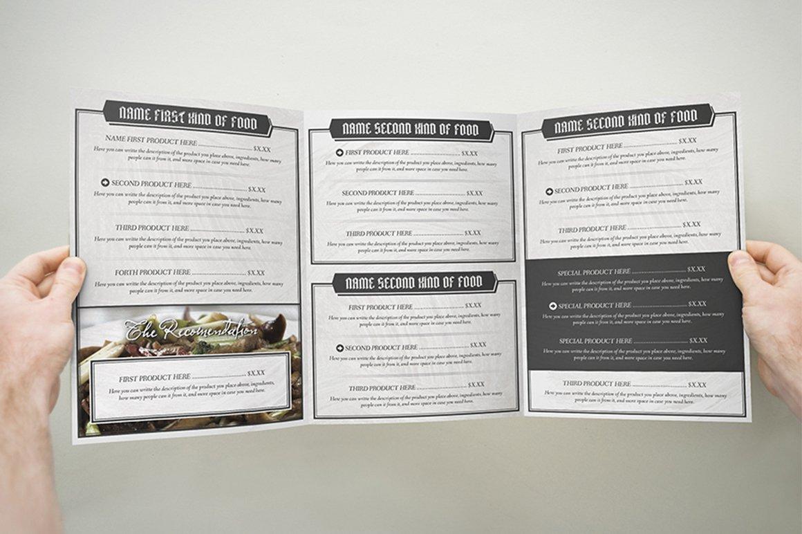 Elegant Food Identity ~ Brochure Templates ~ Creative Market
