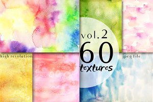 60 watercolor background 2 volume
