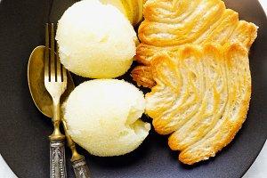 organic summer dessert of pear