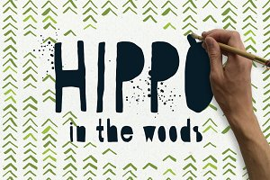 Hippo in the Woods - Organic Font