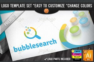 App Pixel Circles Bubble Search Logo