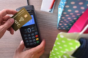 Payment in a trade with nfc system