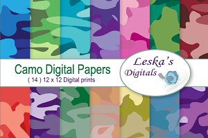 Camouflage - Camo Digital Paper