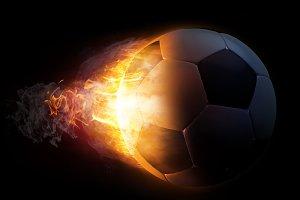 Soccer Ball in Fire Illustration