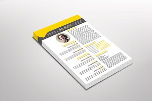 Racio Resume Template Design