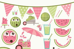 Summer Watermelon clipart