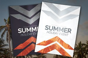 Summer Holiday Event Flyer PSD