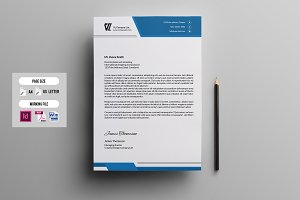 Corporate  Letterhead Template-V05