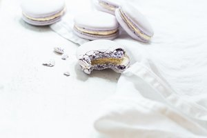 Styled Stock Photo - Lilac Macaroons