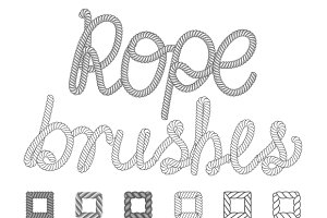 Rope nautical vector pattern brushes
