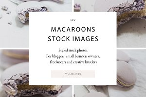 SALE! Stock Photos Lilac Macaroons 5