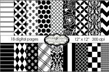 Black & White Mega  Paper Pack