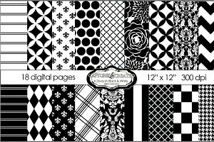 Black & White Mega  Paper Pack