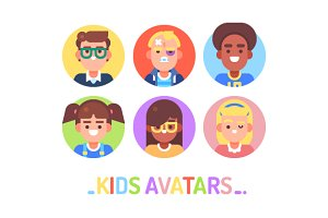 Kids Avatars on White
