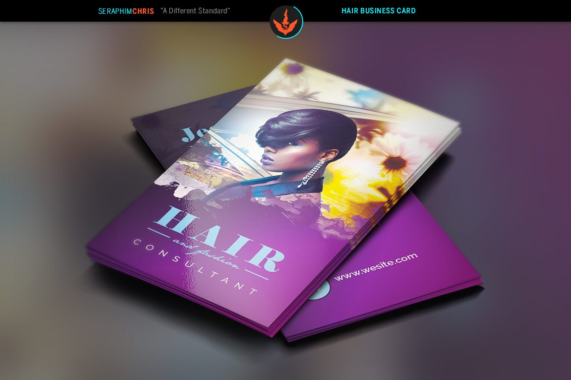 Hair Salon Business Card Photos Graphics Fonts Themes - Hair salon business card template