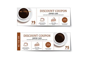 coffee coupon discount template
