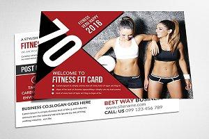 Fitness Salon Postcard