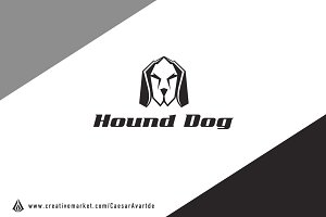Hound Dog Logo Template