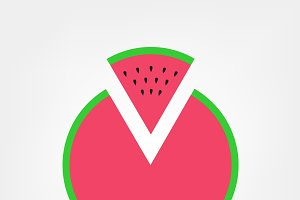 Watermelon pizza logo