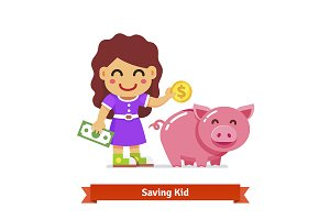 Kid saving money