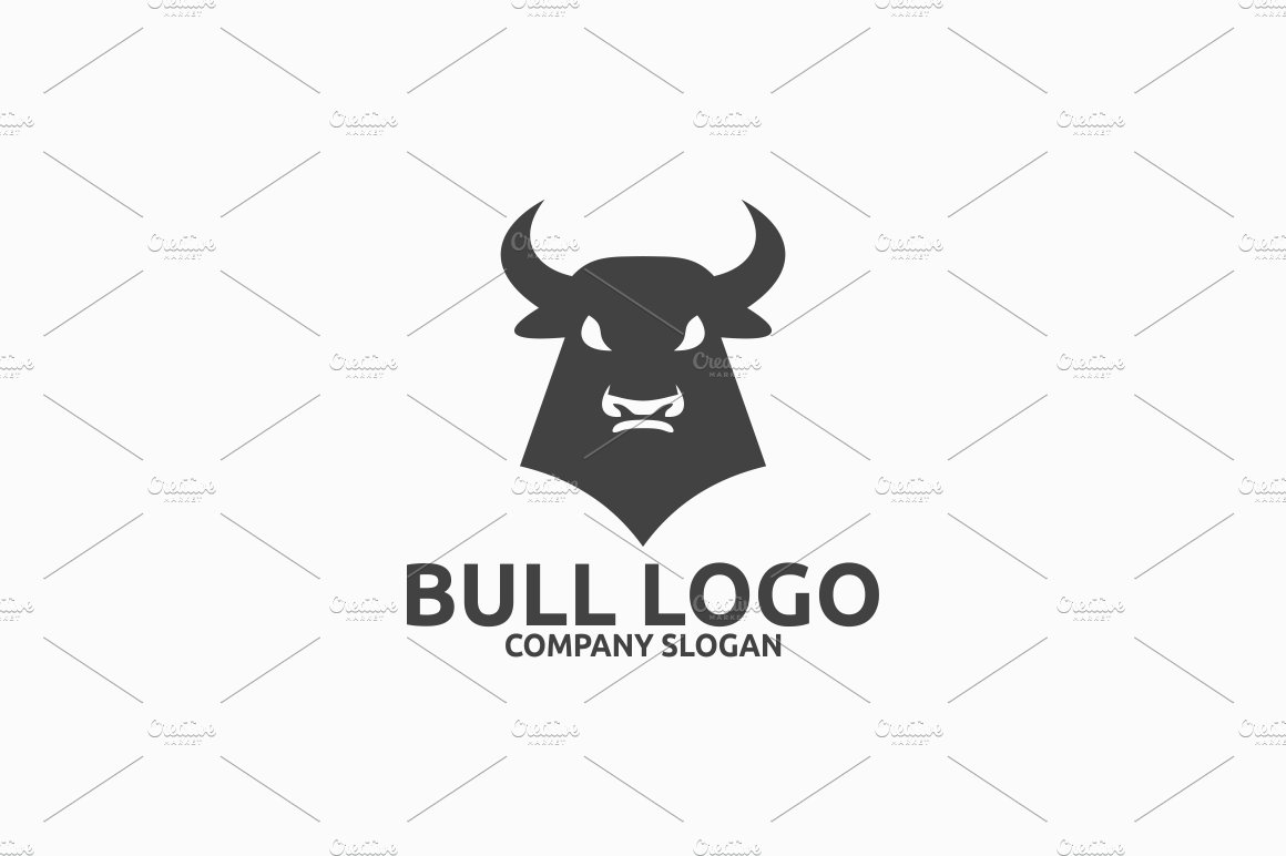 Bull Logo ~ Logo Templates ~ Creative Market