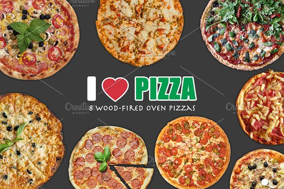 Download 8 Isolated Pizza Images