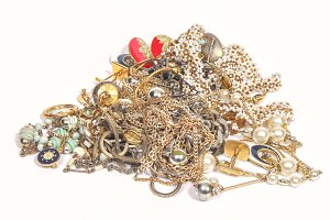 Jewelry on a heap