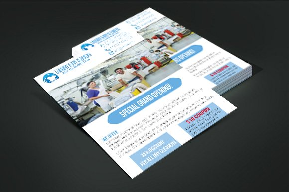 laundry dry cleaners flyer v 02
