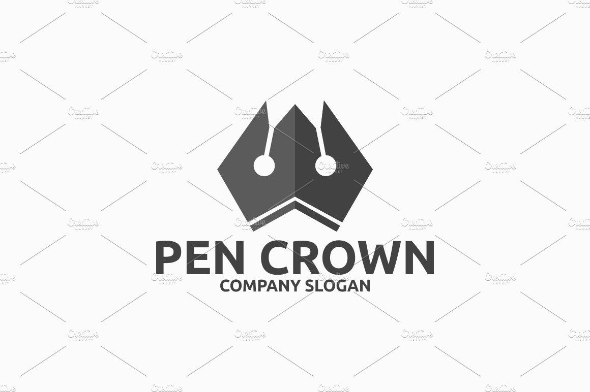 Pen Crown Logo Logo Templates Creative Market