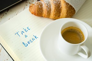 Business coffee break concept