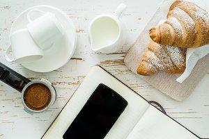 Business coffee break concept
