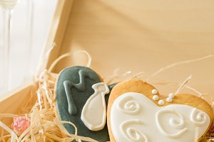 Wedding cookings of bride and groom