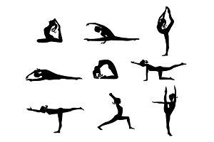 Woman stretching set