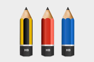 3 Pencil Icons